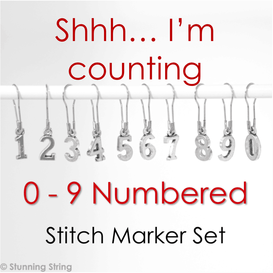 0-9 Numbered Stitch Marker Set