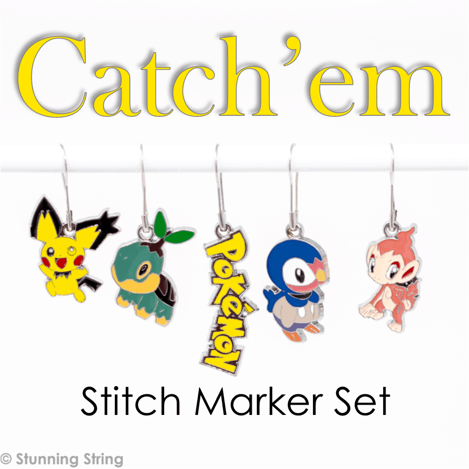 Catch'em All! - Stitch Marker Set