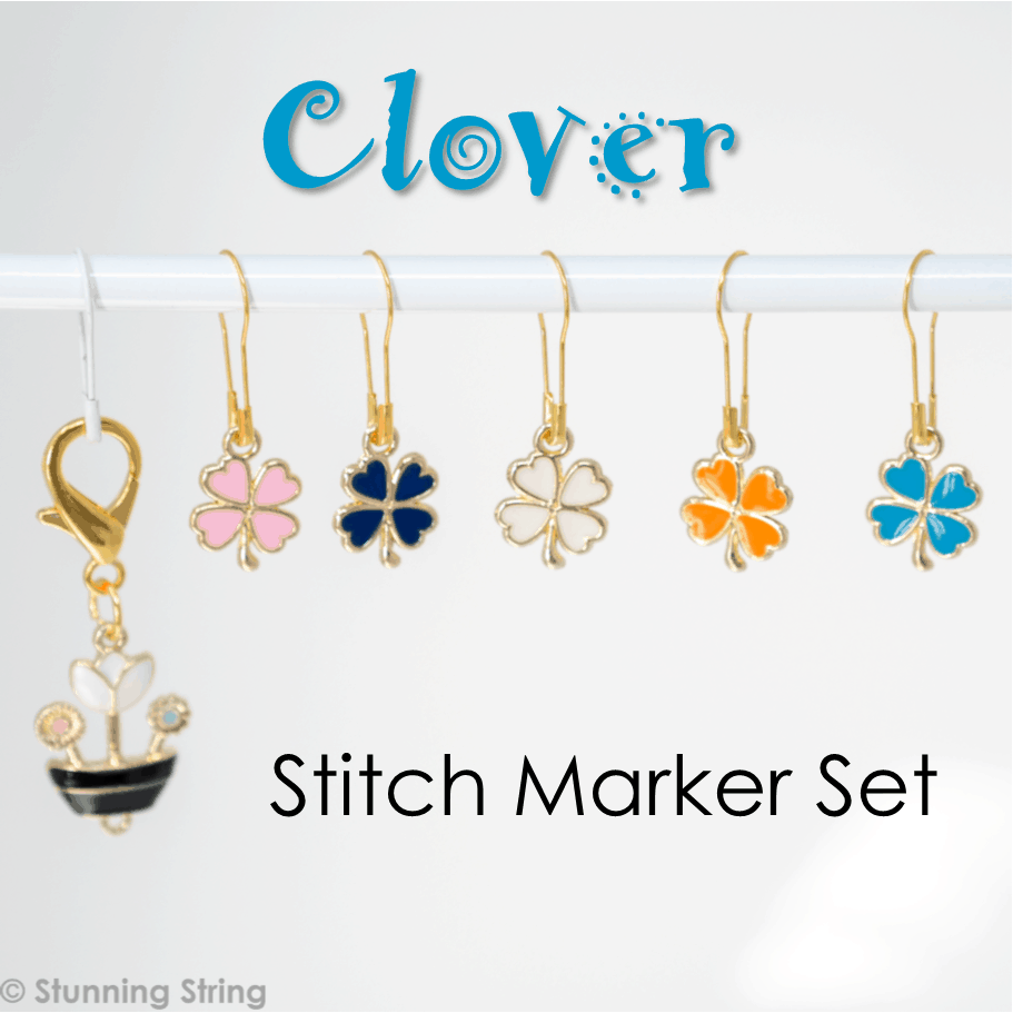 Colorful Clover Stitch Marker Set