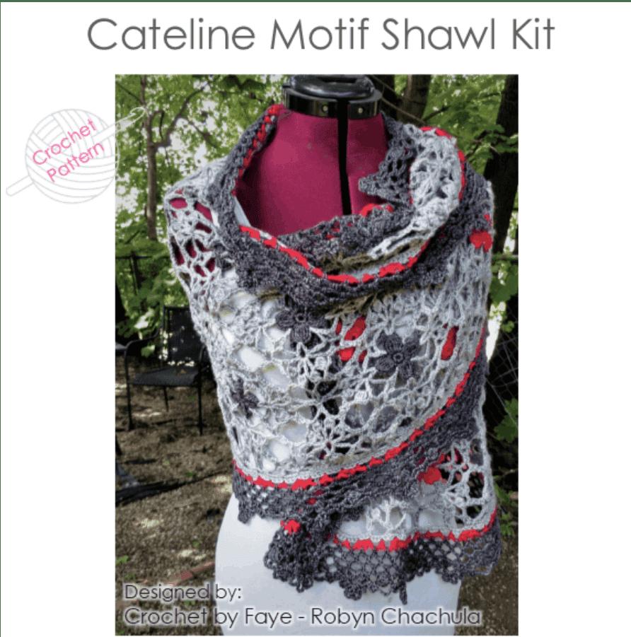 Cateline Motif Shawl Kit