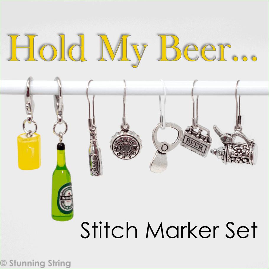 Hold My Beer Stitch Marker Set