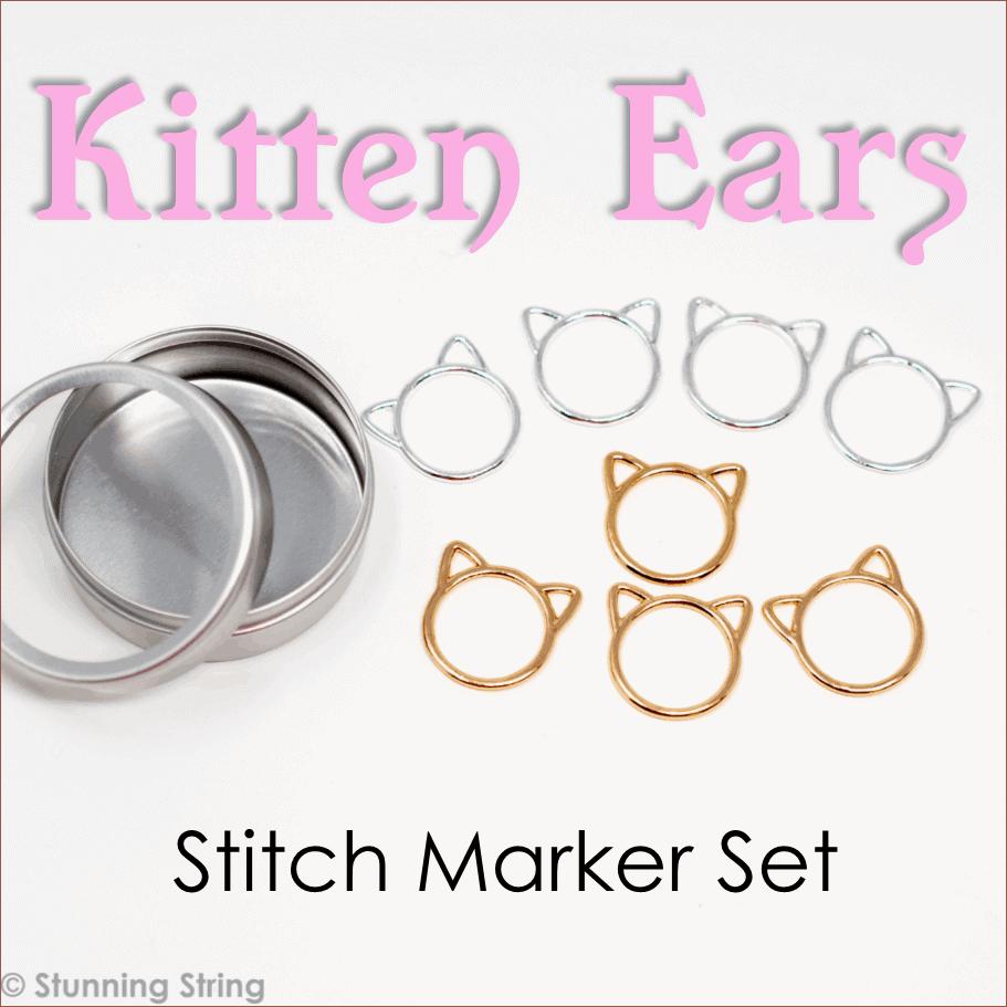Kitten Ears Stitch Marker Set