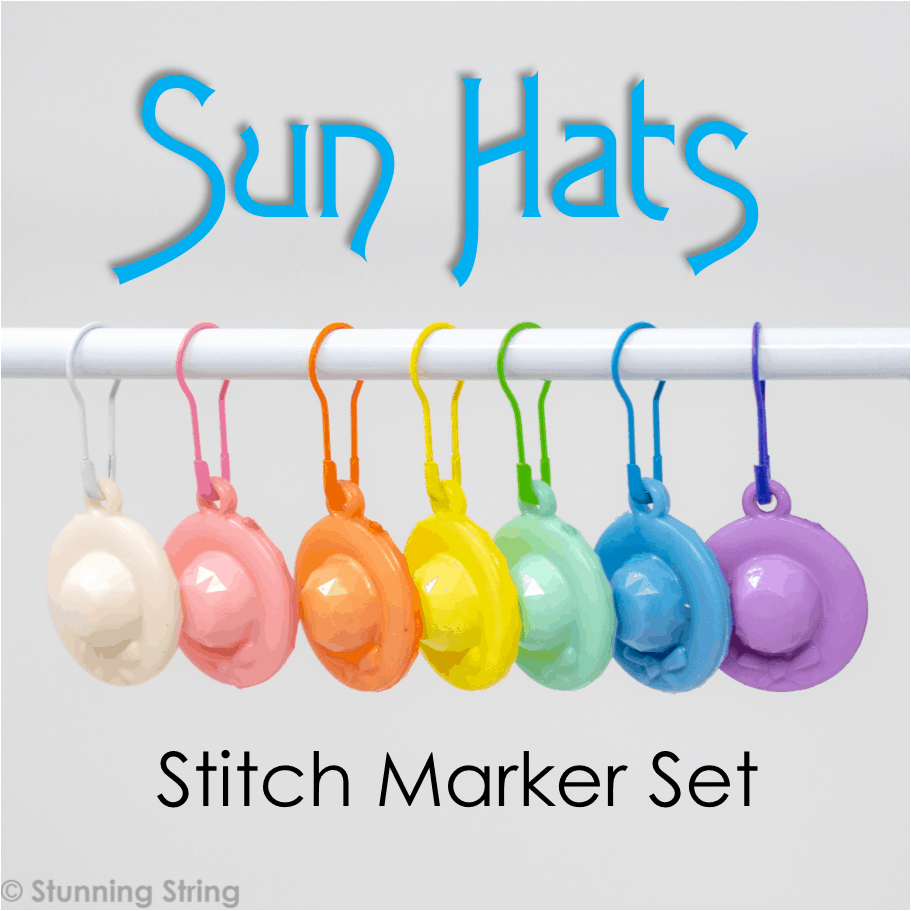 Sun Hats - Stitch Marker Set