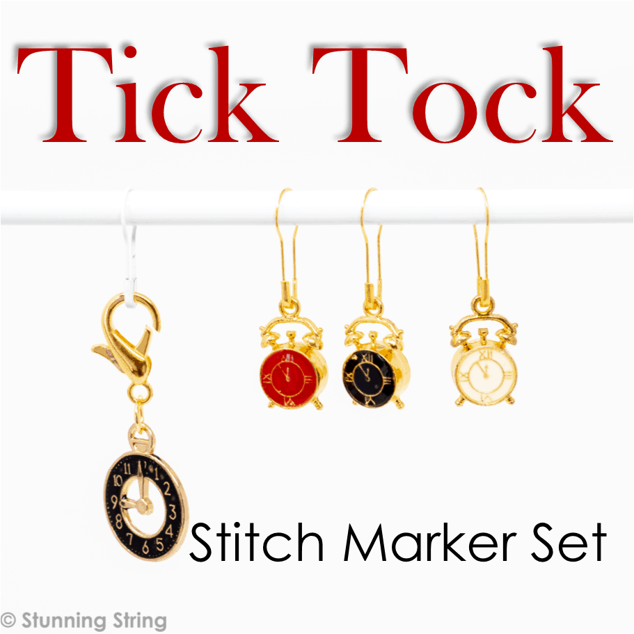 Tick Tock - Stitch Marker Set