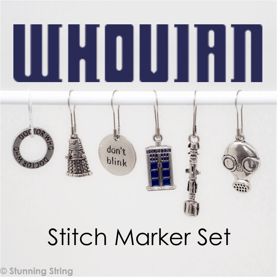 Whovian - Stitch Marker Set
