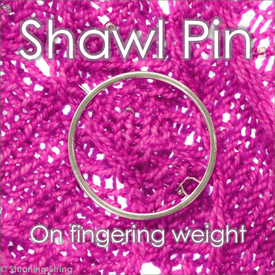 Pink Heart Shawl Pin