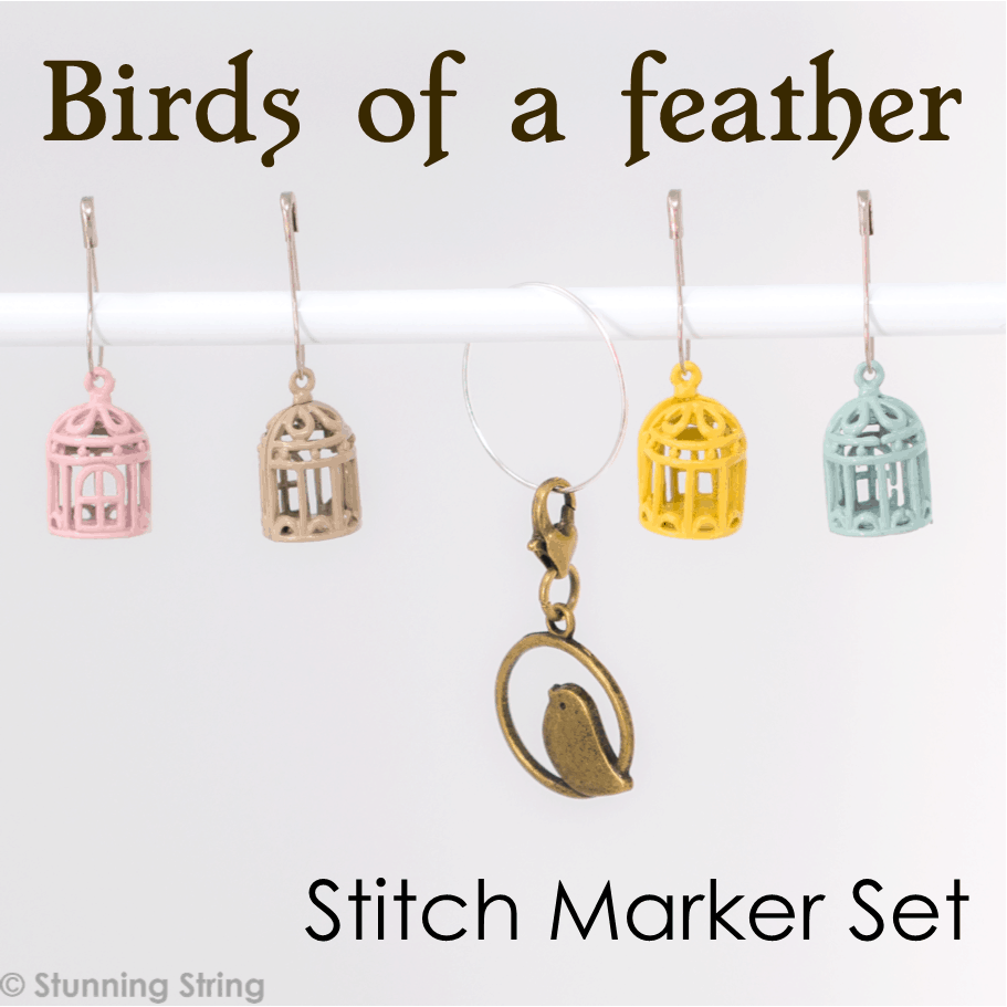 Birds of a Feather Stitch Marker Set