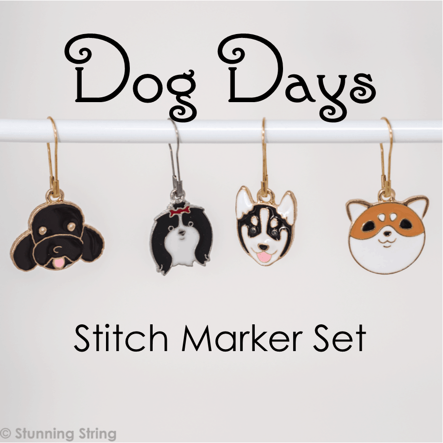 Dog Days Stitch Marker Set