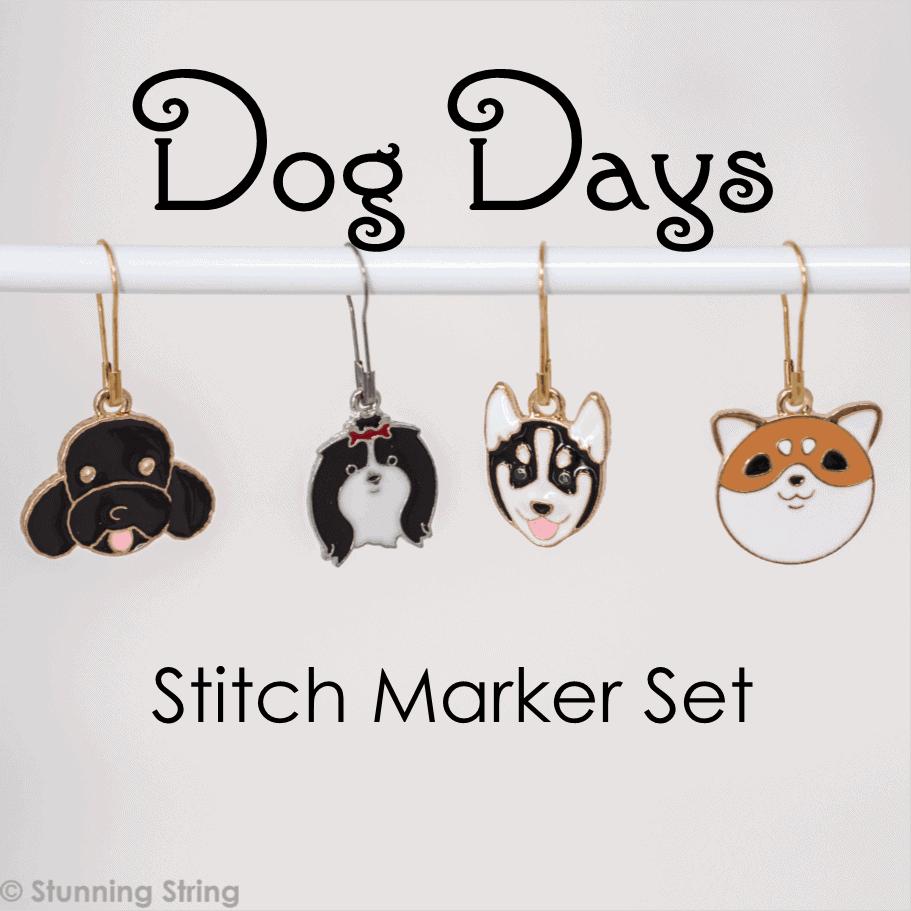 Dog Days Stitch Marker Set