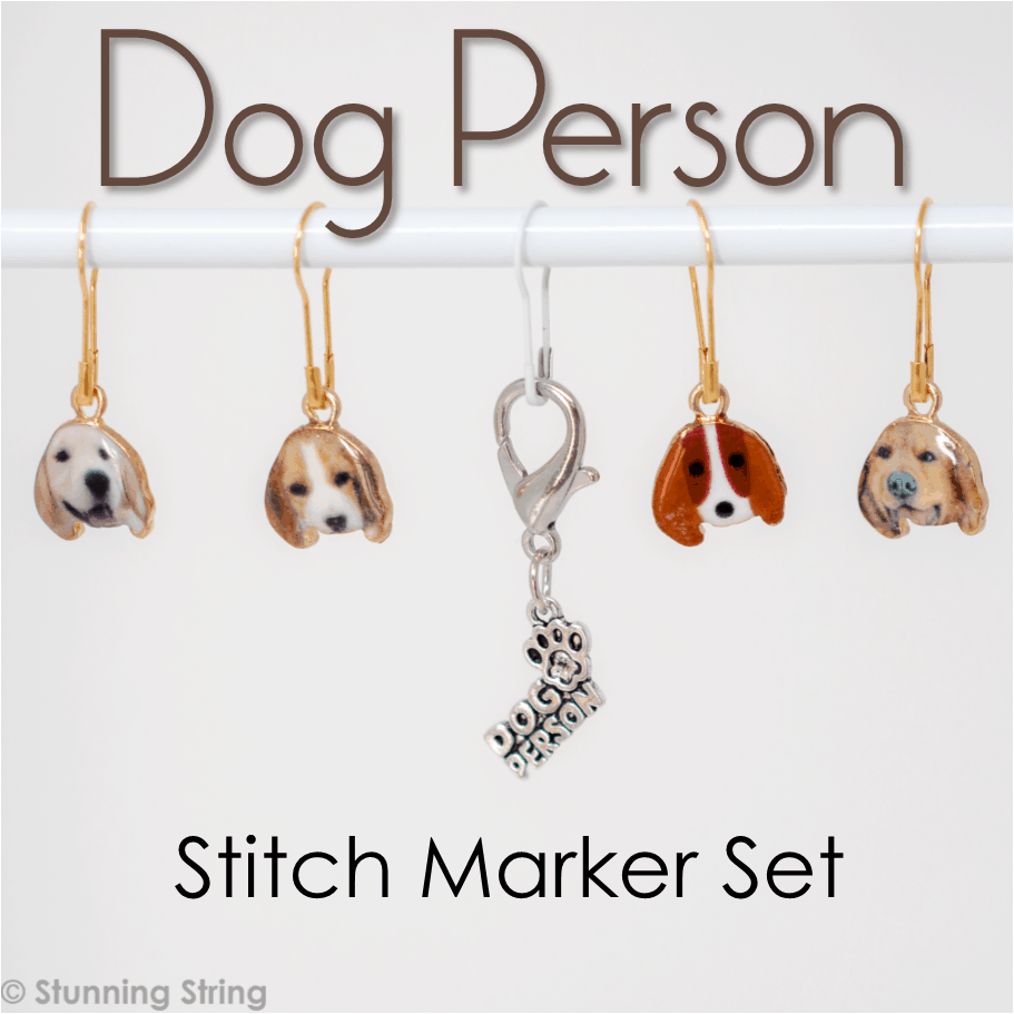 Dog Person Stitch Marker Set