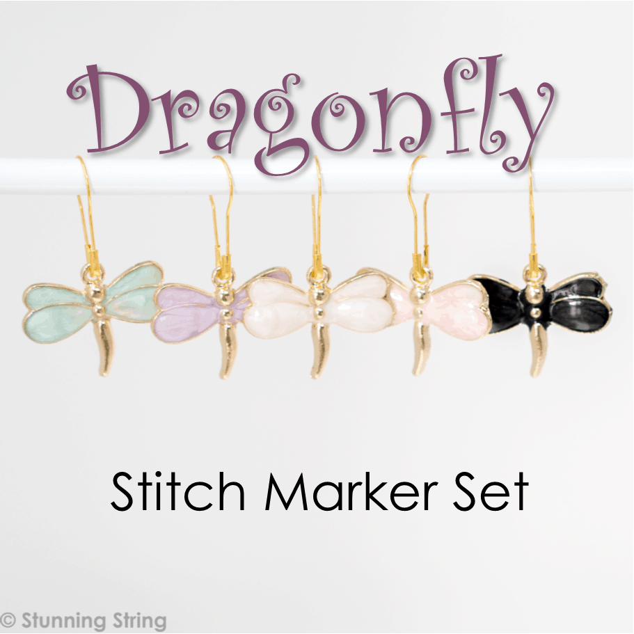 Dragonfly Stitch Marker Set