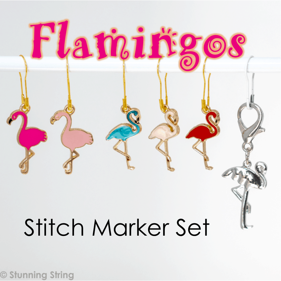 Flamingo Stitch Marker Set