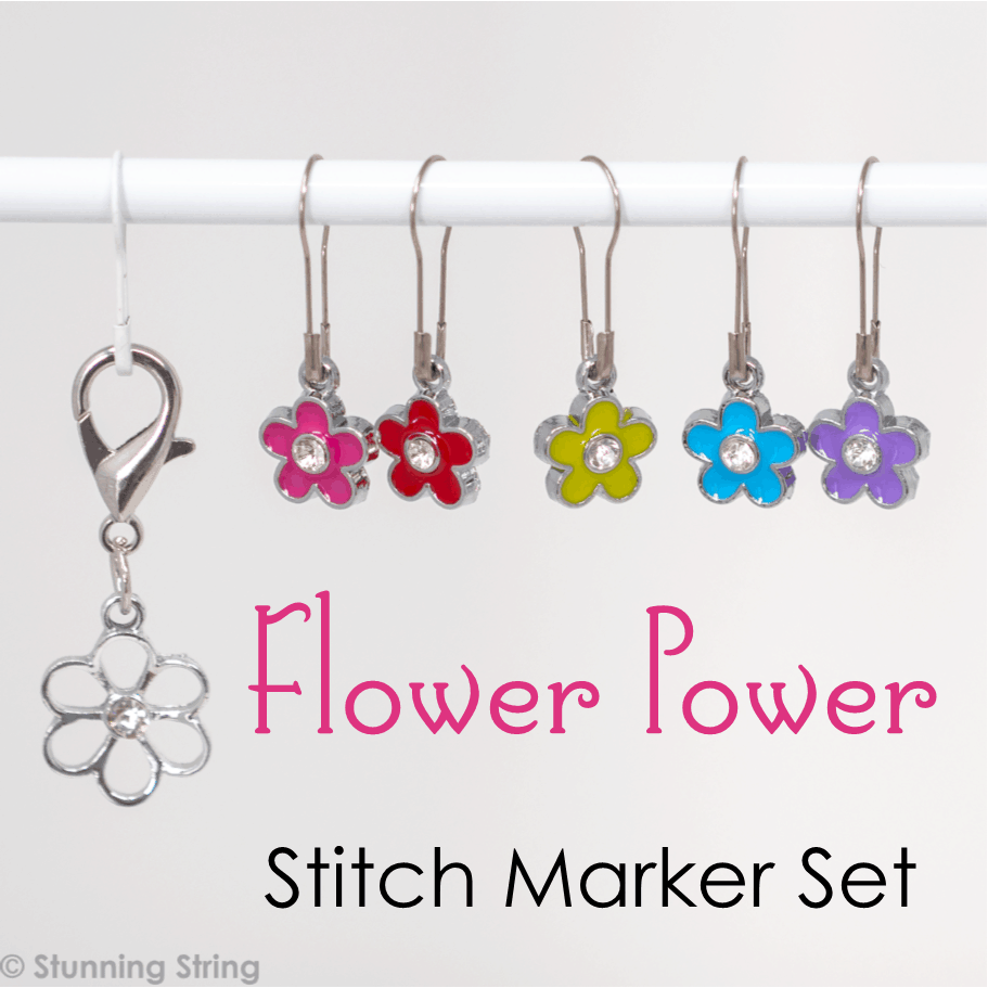 Flower Power Stitch Marker Set