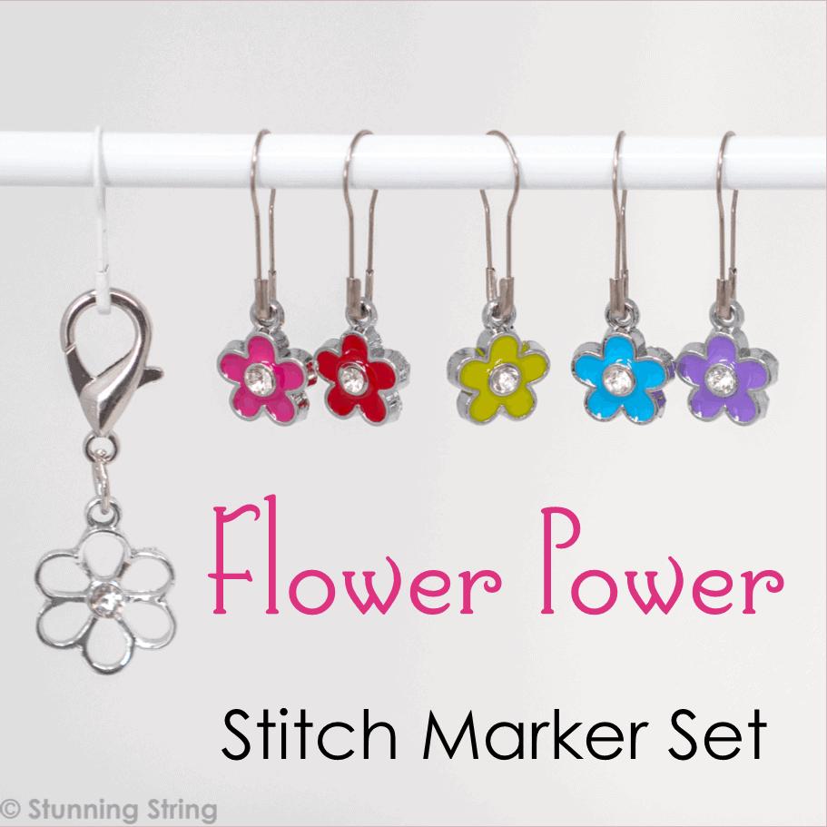 Flower Power Stitch Marker Set