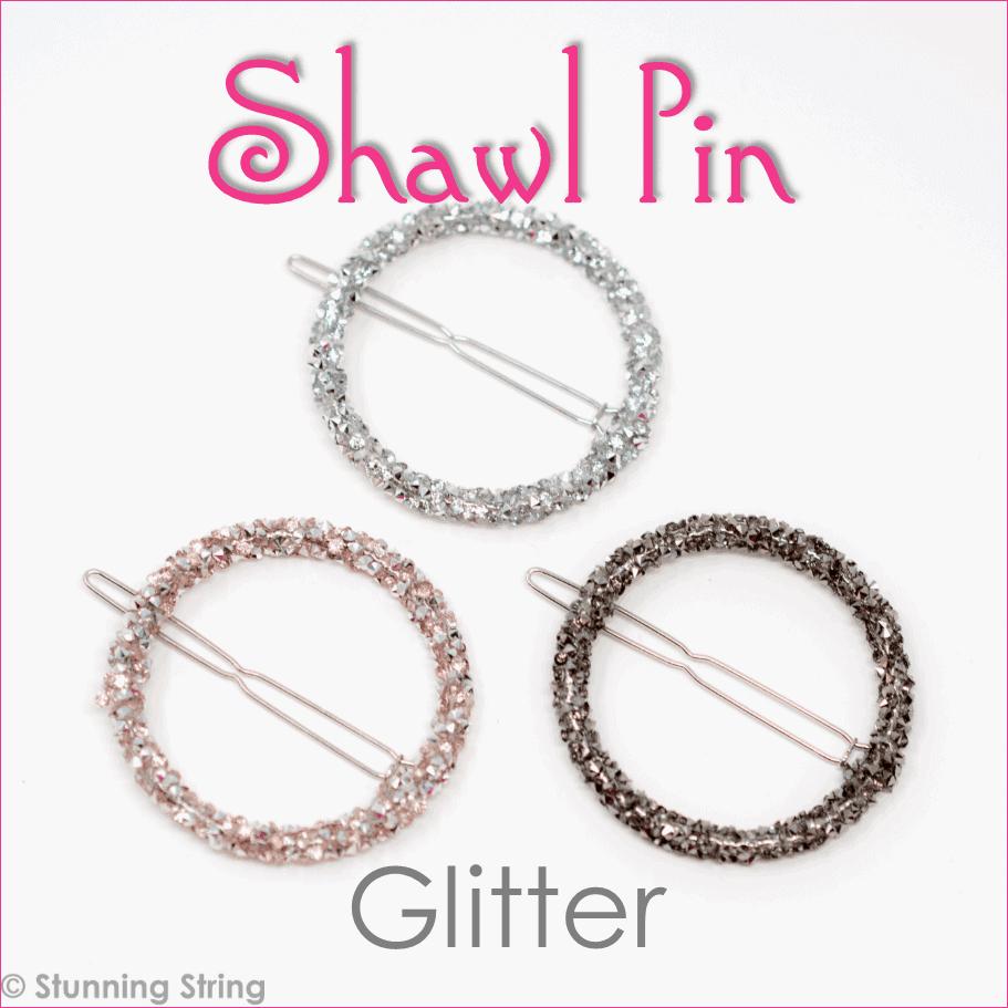Glittery Shawl Pin