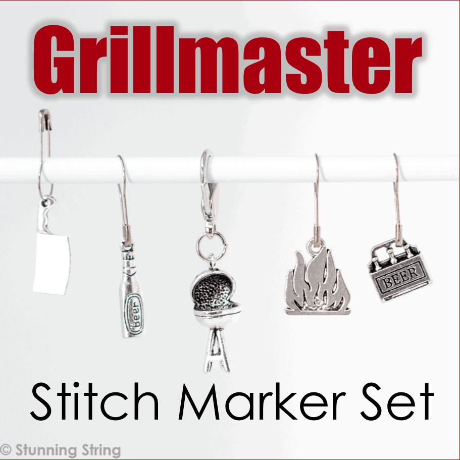 Grillmaster! Stitch Marker Set