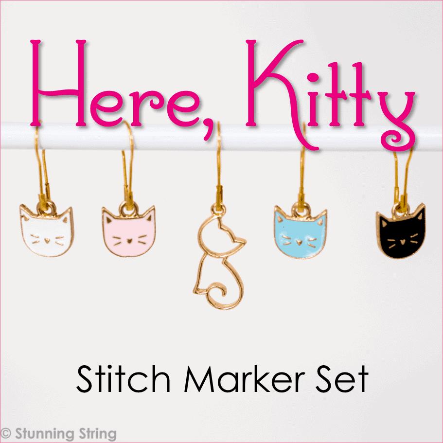 Here, Kitty - Stitch Marker Set