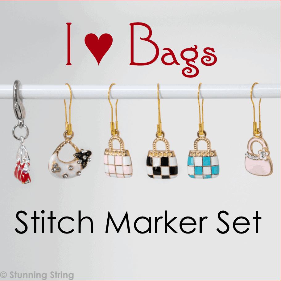 I ♥ Bags - Stitch Marker Set