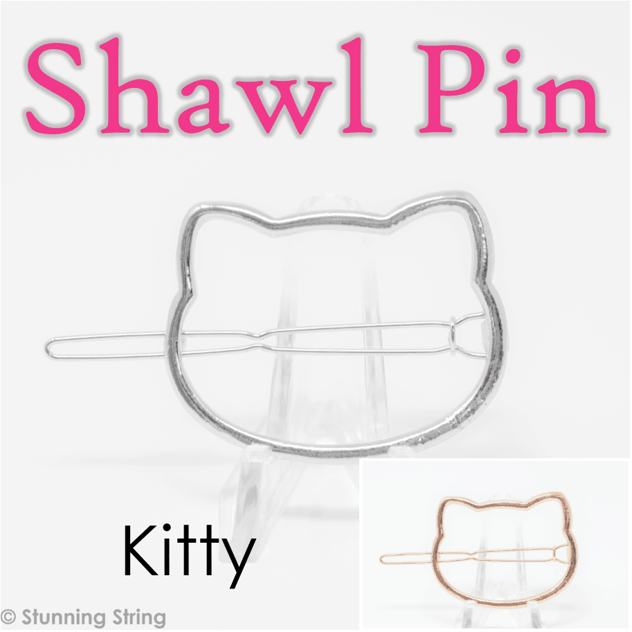 Kitty Shawl Pin