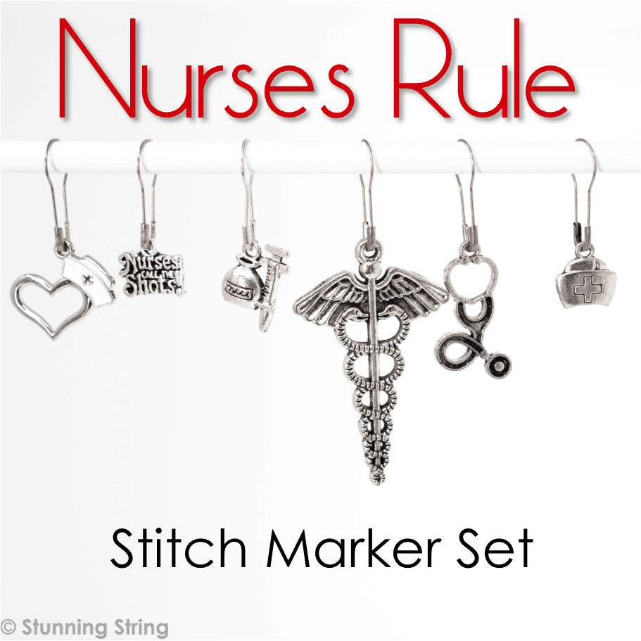 Nurses Rule! - Stitch Marker Set