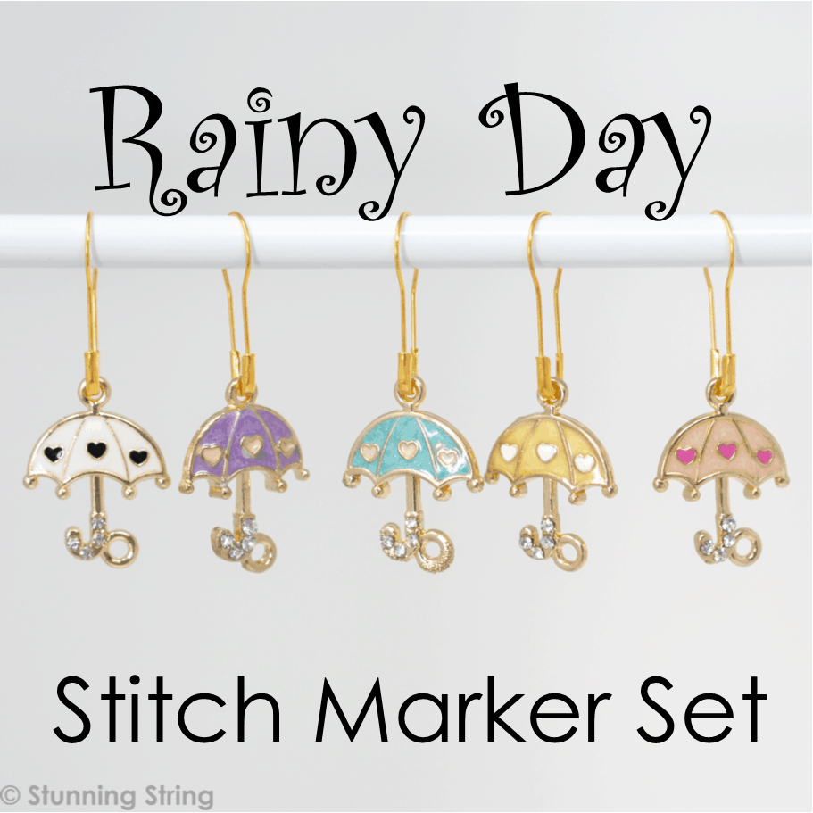 Rainy Day - Stitch Marker Set