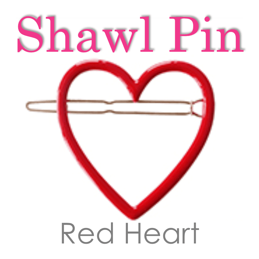 Red Heart Shawl Pin