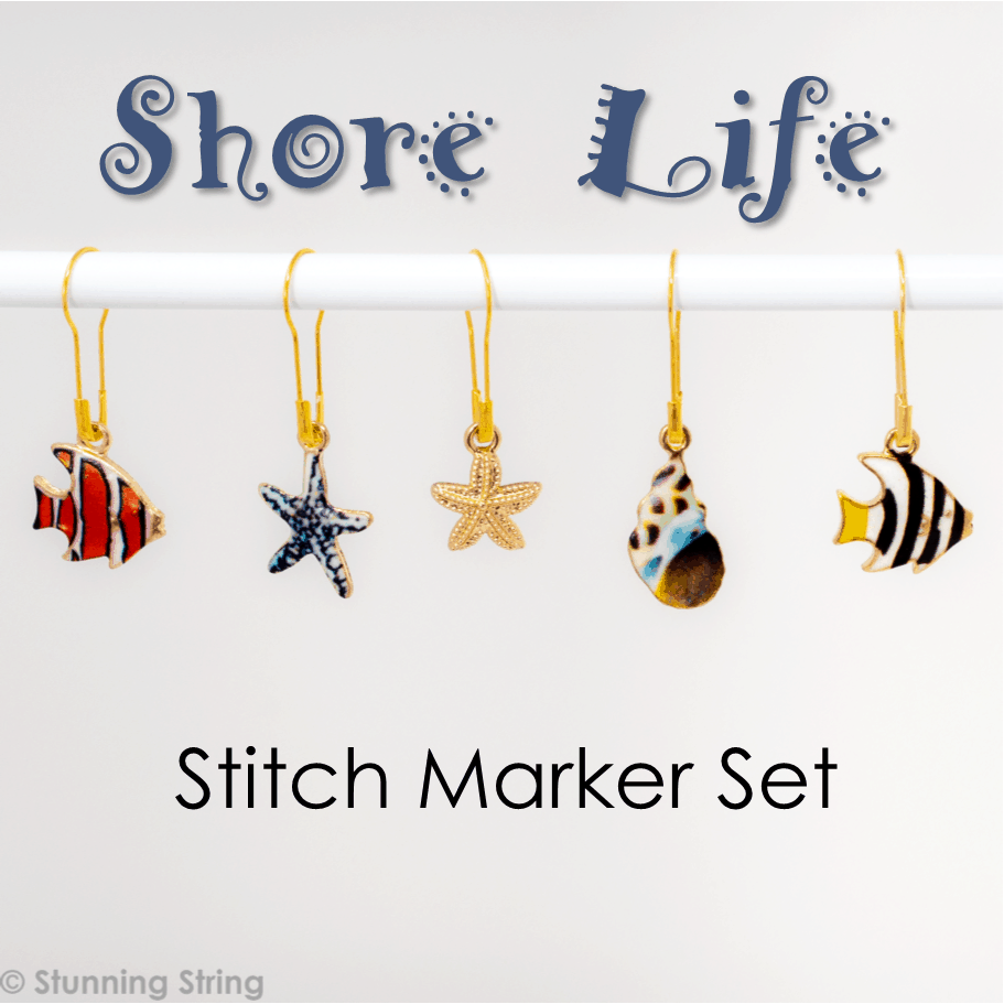 Life by the Shore - Stitch Marker Set
