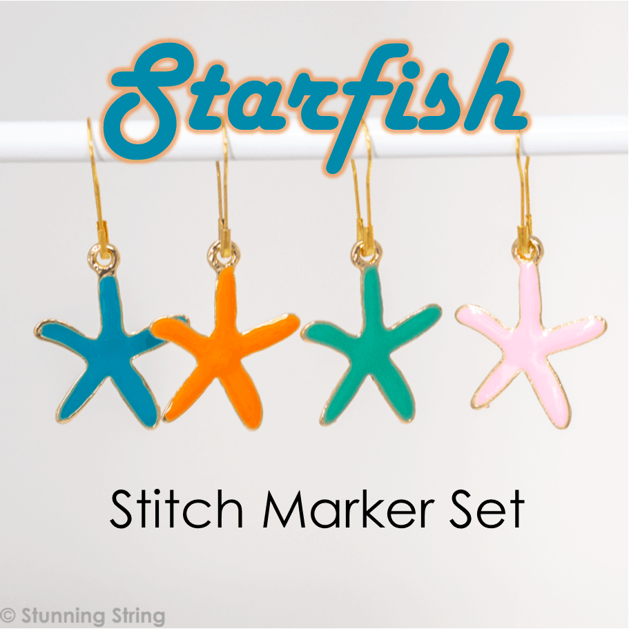 Starfish - Stitch Marker Set