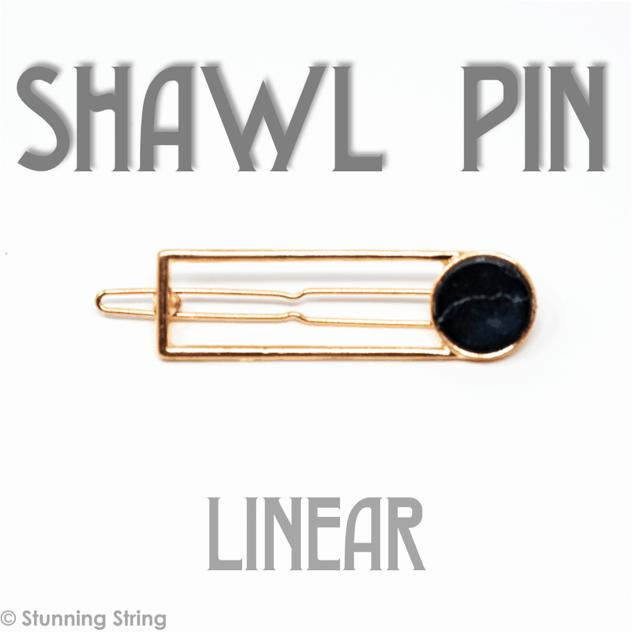 Linear Marble Shawl Pin