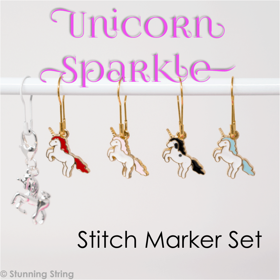 Unicorn Sparkle Stitch Marker Set