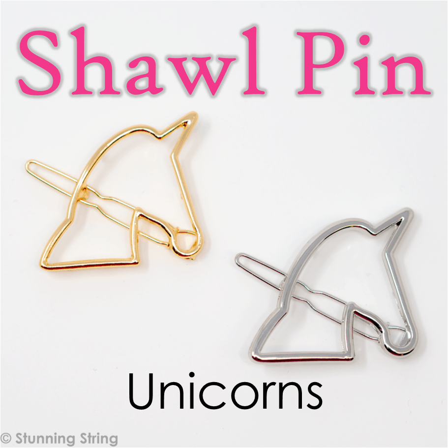 Unicorn Head Shawl Pin