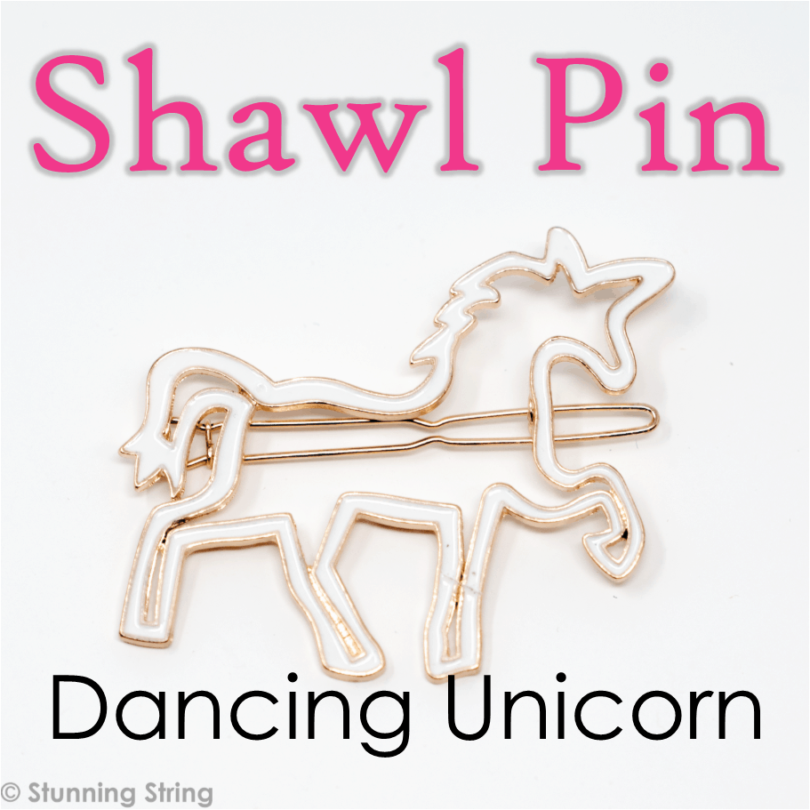 Dancing Unicorn Shawl Pin