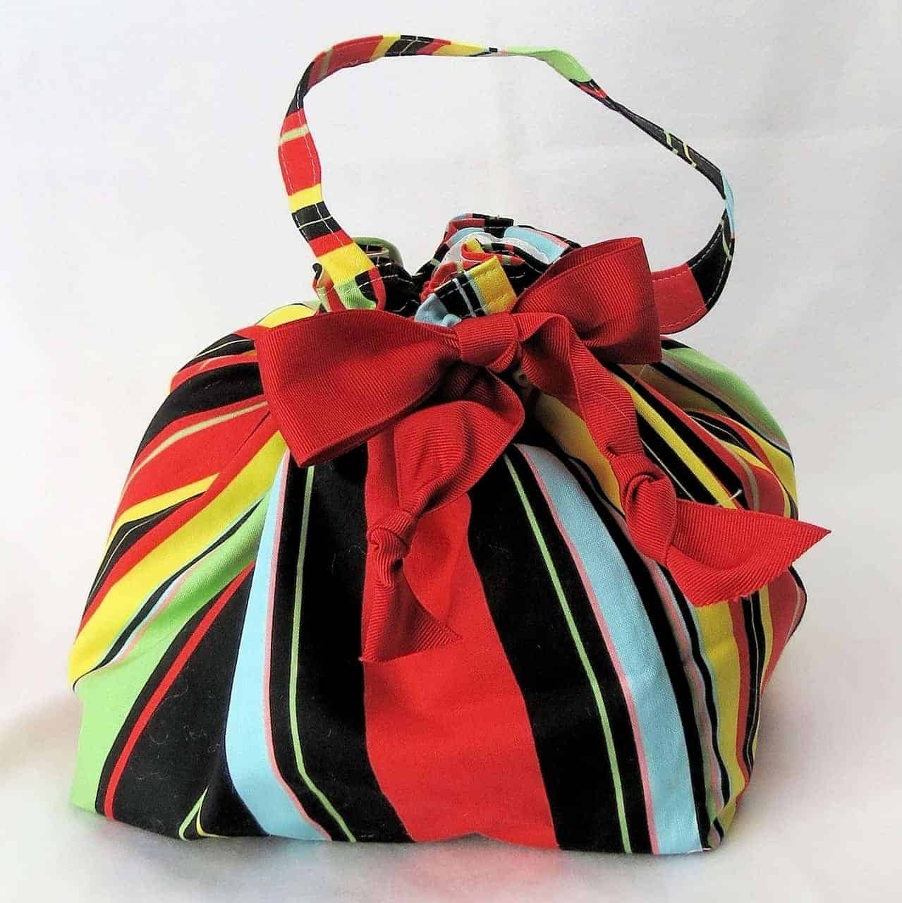 Sassy Stripes Project Bag