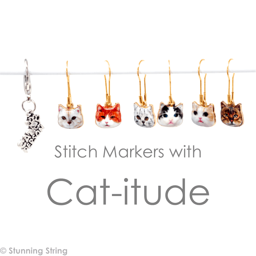 Cat Stitch Marker Set