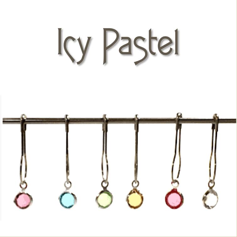 Crystal Bezel Locking Stitch Markers