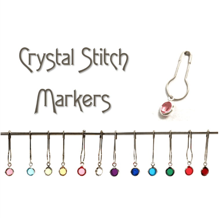 Crystal Bezel Locking Stitch Markers