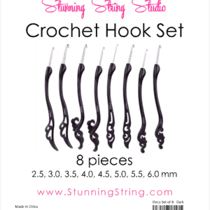 Deco Black Crochet Hook Set