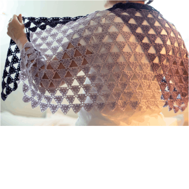 Eulerian Triangles Shawl Kit - Crochet