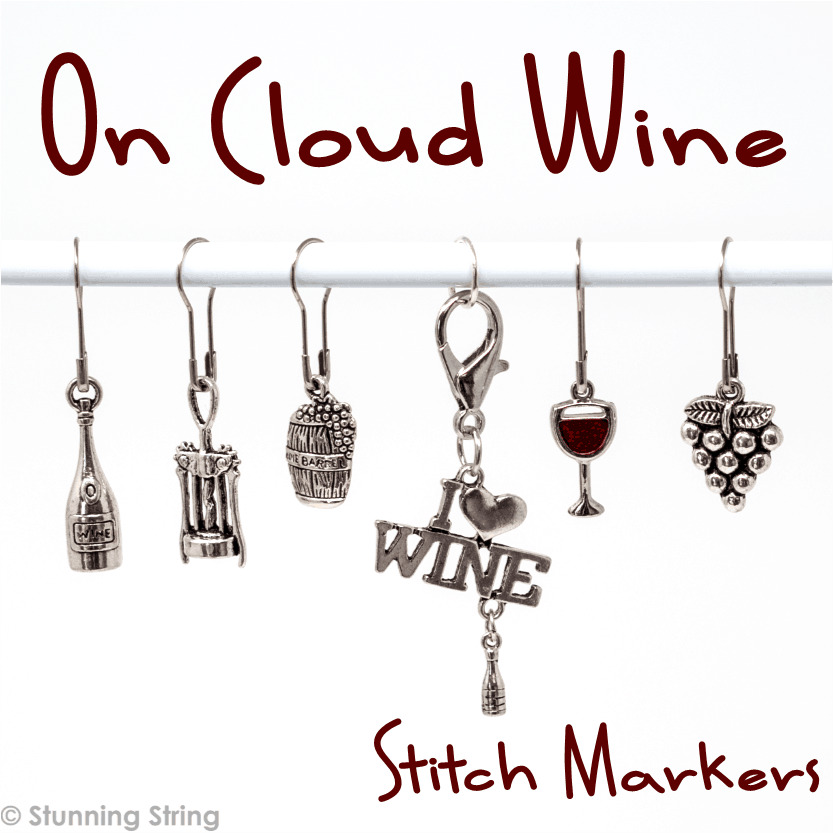 On Cloud Wine Stitch Marker Set