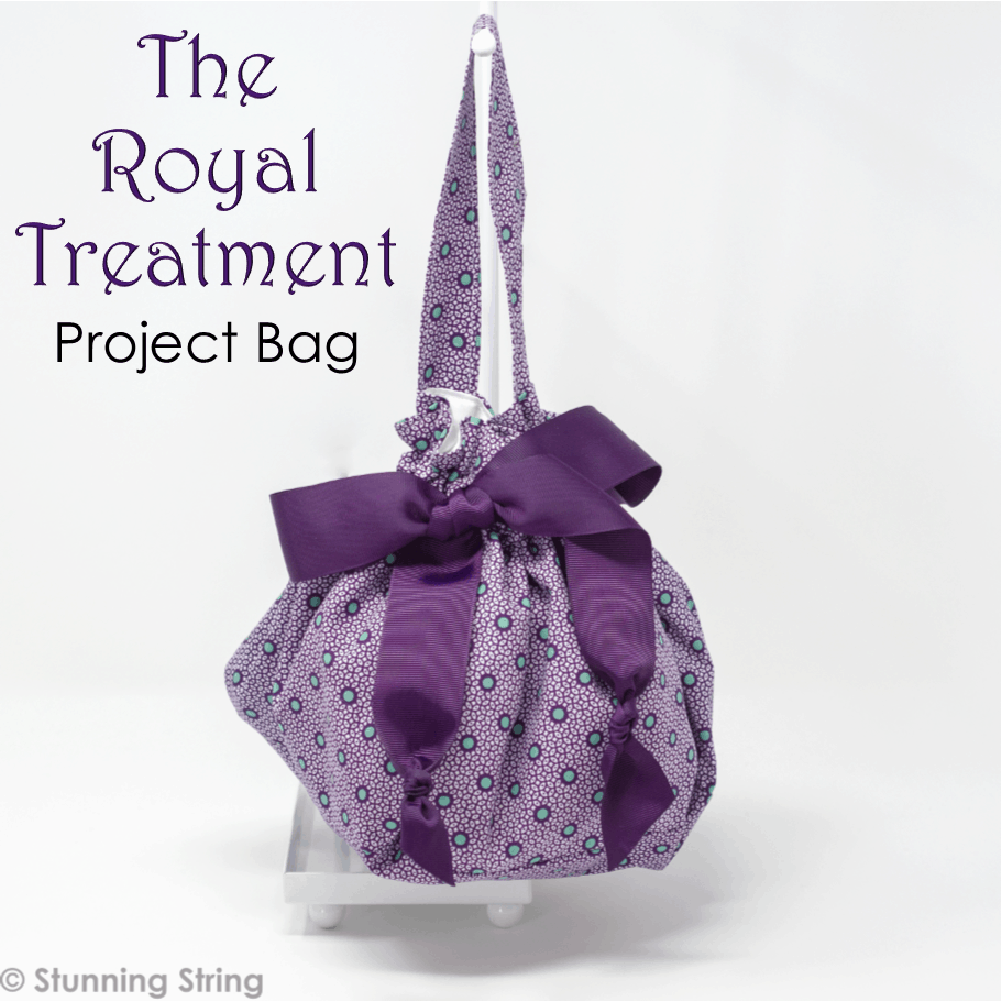 Royal Purple Dot Project Bag