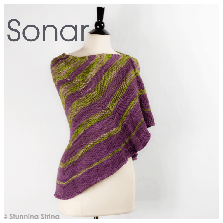 Sonar Aran Weight Shawl Kit