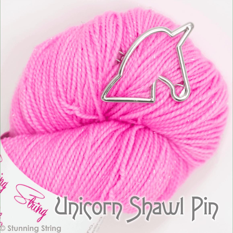 Unicorn Head Shawl Pin